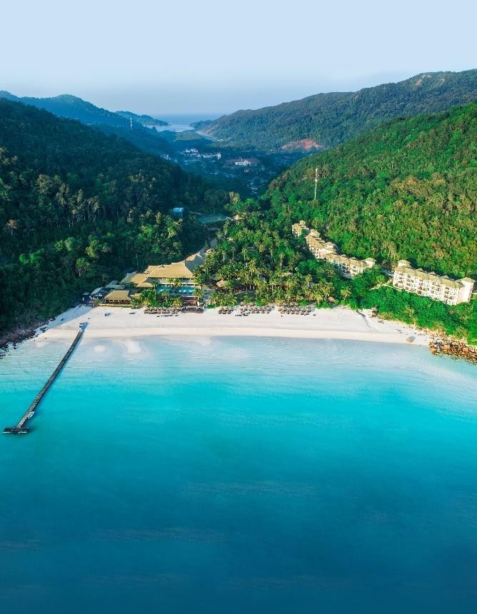 Aerial view of The Taaras Beach & Spa Resort