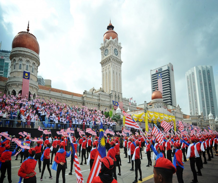 A grand parade to mark Malaysia's 60th National Day celebration