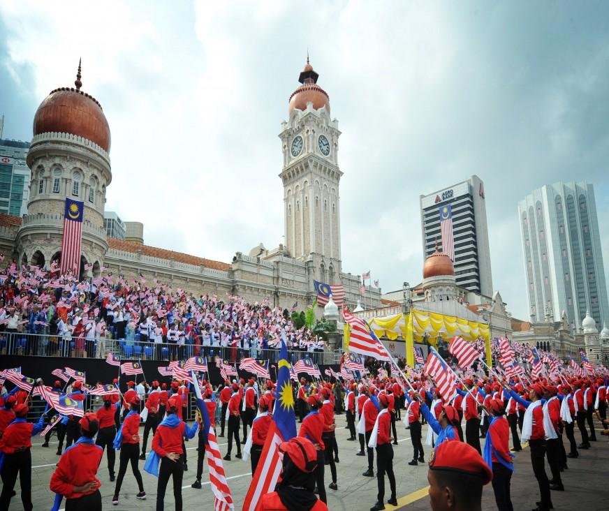 A grand parade to mark Malaysia's 60th National Day celebration