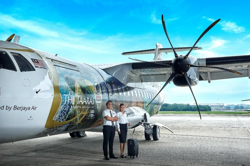Our ATR 42-500 aircraft operated and managed by Berjaya Air